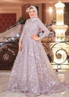 Dress maxi party fashion ideas for 2019 Hijab Prom Dress, Dress Brukat, Hijab Evening Dress, Muslim Wedding Dresses, Hijab Style Dress, The Dress, Bridesmaid Dress, Wedding Hijab, Maxi Dresses