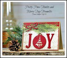 Joy Christmas Card by Sandi @ www.stampinwithsandi.com