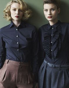 Buttoned up elegance - photo: robyn glaser