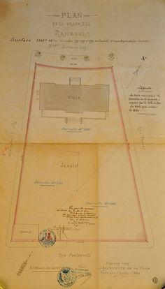 Plan de la Propriété Rambourg. 21 bis Bd Dubouchage, Nice. Avril 1920