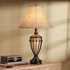 Cardiff Iron Night Light Urn Table Lamp - #T7663 | Lamps Plus