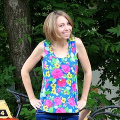 Sis Boom Tortola - Womens Tank Top Pattern - PDF Sewing Pattern E-Book