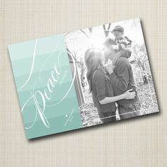 photo christmas card  ombre peace. von westwillow auf Etsy