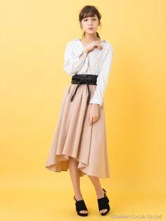 INGNI  【春の新作】サッシュベルト付TRイレヘム/スカート  4,212円(税込)
