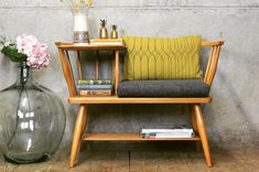 Looking for hallway ideas? Make the most of your entryway with these simple styling tricks and smart storage solutions Timber Furniture, Small Furniture, Upcycled Furniture, Hallway Chairs, Bench Decor, Internal Doors, Home And Deco, Home Office Design, Eclectic Decor