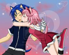 Sonic and Amy by Selene-Galadriel on DeviantArt Silver The Hedgehog, Shadow The Hedgehog, Sonic The Hedgehog, Sonic Y Amy, Suspended Animation, Shadow And Amy, Tokyo Mew Mew, Amy Rose, Estilo Anime