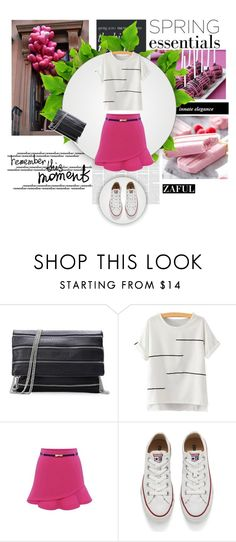 """""""www.zaful.com/?lkid=7493 (49)"""" by nejra-l ❤ liked on Polyvore featuring Converse, Victoria Beckham, women's clothing, women's fashion, women, female, woman, misses, juniors and zaful"""