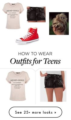 """""""Totally me"""" by kystewart on Polyvore featuring Miss Me and Converse"""