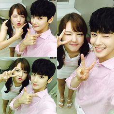 Yerin (Gfriend) y Eunwoo (Astro)