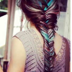 I'm dreaming of having hair like this, like a mermaid. But I'm 26 and a mummy. Am I too old? Should have done it in my teens!