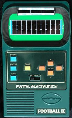 Mattel Football II, this is the one I actually had.  Wish I still did.