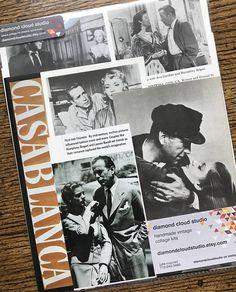 Humphrey Bogart Vintage Classic Movie Star Collage Scrapbook