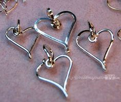 Wire Jewelry Tutorial Charming Hearts I by MyWiredImagination