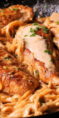 Spicy Chicken Lazone Pasta - New Orleans Chicken Lazone Pasta is a flavorful dinner that comes together in only 30 minutes! Chicken tenders are pan seared in butter and oil, and then served with a decadent New Orleans sauce over pasta. Cajun Recipes, Cooking Recipes, Healthy Recipes, Pasta Recipes, Haitian Recipes, Creole Recipes, Donut Recipes, Pasta Dishes, Food Dishes