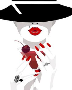 Red lip 🤓 Best Picture For summer Makeup looks For Your Taste You are looking for something, and it is going to tell you exactly what . crease makeup hallberg colors looks lips lips Fashion Drawings, Fashion Sketches, Fashion Art, Illustration Mode, Illustration Fashion, Makeup Illustration, Nail Logo, Nail Salon Decor, Ink Splatter