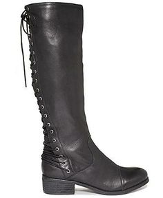Fit to be tied — Two Lips lace up black boots