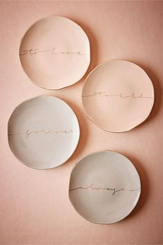 Scripted Dessert Plates from BHLDN