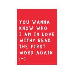Leuke valentijn's kaart met toffe tekst - uit onze shop! www.livelifehappy.nl