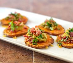 Sweet-Potato-Bites-with-Avocado-and-Bacon-2 by Law Students Wife, via Flickr