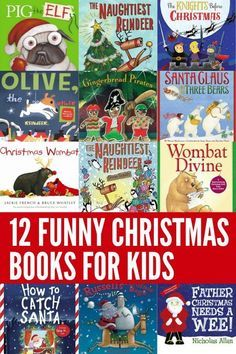 A collection of some of the funniest ever Christmas picture books for kids. These funny stories will have your child laughing out loud! Source by kellyjholmes Childrens Christmas Books, Christmas Books For Kids, Preschool Christmas, Christmas Humor, Childrens Books, Christmas Activities, Kid Books, Library Books, Christmas Crafts