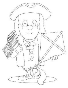 Benjamin Franklin Printable Activity Sheet from www