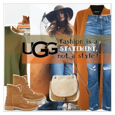"""The New Classics With UGG: Contest Entry"" by goreti ❤ liked on Polyvore featuring UGG, Warehouse, Scanlan Theodore, AG Adriano Goldschmied, UGG Australia and ugg"