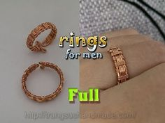 Couple rings part 1 - rings for men from copper wire - full version ( sl...