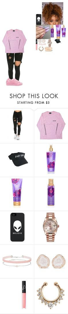 """~ I don't like pink ~"" by foodislyfe ❤ liked on Polyvore featuring adidas Originals, Victoria's Secret, Rolex, Miss Selfridge, Kimberly McDonald, NARS Cosmetics and MICHAEL Michael Kors"