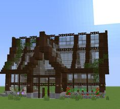einfaches schönes grünes Haus Minecraft Projekt House Beautiful most beautiful house in the world Villa Minecraft, Château Minecraft, Minecraft Greenhouse, Architecture Minecraft, Casa Medieval Minecraft, Construction Minecraft, Cute Minecraft Houses, Minecraft Structures, Minecraft Houses Blueprints