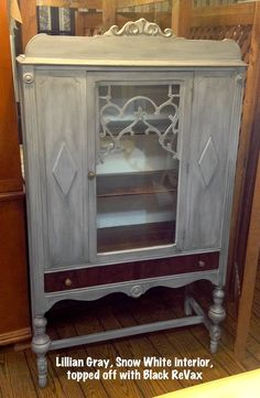 Gorgeous!!!  Shabby Paints Lillian Gray Chalk Acrylic Paint finished with Black ReVax!