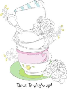 time to wash tea cups...♥♥♥