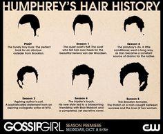 Dan Humphrey's hair evolution