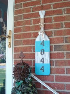 House Number Custom Nautical Oar Paddle Sign by justbeachyshop