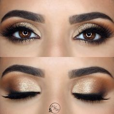 25 Stunning Looks All Brown-Eyed Girls Need to Try Bridesmaid Makeup For Brown Eyes BrownEyed Eyeshadows girls Stunning Bronze Eye Makeup, Eye Makeup Steps, Natural Eye Makeup, Smokey Eye Makeup, Skin Makeup, Eyeshadow Makeup, Makeup Case, Eyeshadows, Smoky Eyeshadow