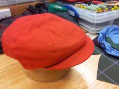 Baker's boy cap, in Irish linen, by David Saxby