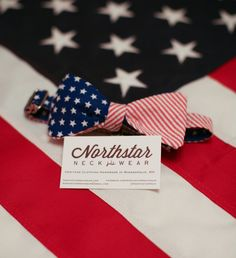 Northstar Neckwear American Flag Bow Tie