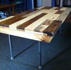 Coffee Table made from reclaimed wood pallets and pipes by WMGoods, $500.00