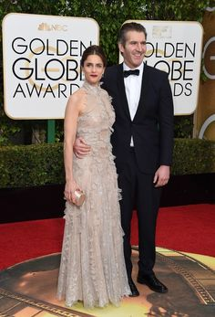 Amanda Peet and David Benioff | The 12 Best-Dressed Couples Of The 2016 Golden Globes