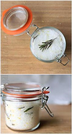 Small Batch Rosemary Lemon Sea Salt - Sea salt infused with lemon and rosemary makes a great addition to chicken or lamb dishes. Homemade Spices, Homemade Seasonings, Lamb Dishes, Veggie Dishes, Spice Blends, Spice Mixes, No Salt Recipes, Cooking Recipes, Vegetarian Recipes
