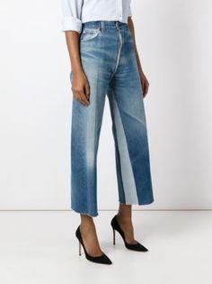 Re/Done Calça jeans pantalona