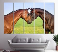 Couple Horse in Love Art Couple of Horses Wall decor Canvas horse wall art Canvas Art Horse Couple Hot Canvas Painting Wedding gift Canvas by ArtWog Horse Couple, Couple Art, Abstract Canvas, Canvas Art, Canvas Prints, Horse Wall Art, Oversized Wall Art, Jesus Painting, Thing 1
