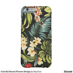 Colorful Hawaii Flowers Design Barely There iPhone 6 Case