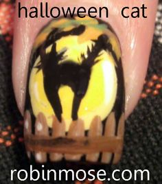 Nail-art by Robin Moses: cat http://www.youtube.com/watch?v=BlLxuYmlH_M