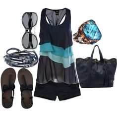 summer blue, created by lagu on Polyvore