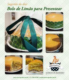 Quer presentear gastando pouco? Fica a dica! Bolo de Limão com a nossa Cinta p/ Bolos e Panetones!