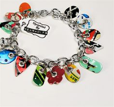Little bracelet with upcycled aluminum charms