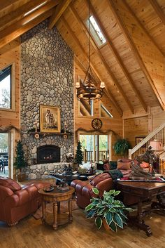 Log Home Great Rooms -..| Posted & Copy rights by:  Log Homes of America.