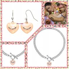 """HP5⭐️Juicy Pink Iridescent Heart Necklace HP5⭐️NWT Juicy Couture chic pink (pink/peachy color) iridescent heart charm silvertone toggle necklace will keep your style on trend!    17"""" Long JUICY AVAILABLE:EarringsNecklace(Pictured) Please Don't Buy ListingTag Me & I'll Create Your Listing ✅Bundle Discounts✅Reasonable Offers✅Smoke-Free✅❌Trades❌ Juicy Couture Jewelry Necklaces"""