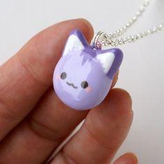 #kawaii purple kitty