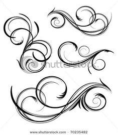 Swirl Tattoo, Filigree Tattoo, Cursive Alphabet, Calligraphy Alphabet, Tattoo Lettering Fonts, Graffiti Lettering, Swirl Design, Border Design, Mago Tattoo